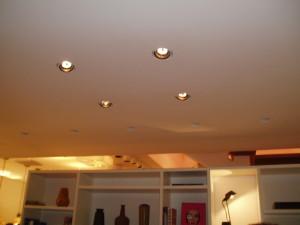 Embutidas no teto
